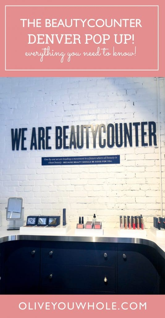 Beautycounter Denver Store Pop Up