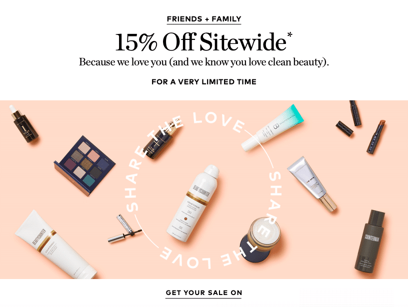 Beautycounter Friends and Family Sale!